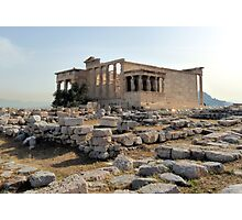 The Temple of Erechteion in Athens Photographic Print