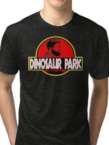 Sanspants Radio - Dinosaur Park Tri-blend T-Shirt
