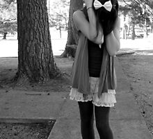 Distressed Girl in black and white by Lauren Neely