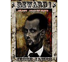 $5,000 REWARD ! JESSE JAMES Photographic Print
