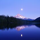 Moon Rise Over Mt. Hood by Jennifer Hulbert-Hortman