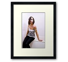 Girl with Fake Blood Framed Print