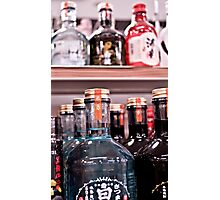 Colorful Glass Bottles Photographic Print