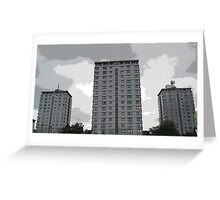 Leverton Gardens 2 , London Road , Sheffield, UK Greeting Card