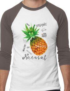 Watercolor pineapple Men's Baseball ¾ T-Shirt