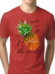 Watercolor pineapple Tri-blend T-Shirt