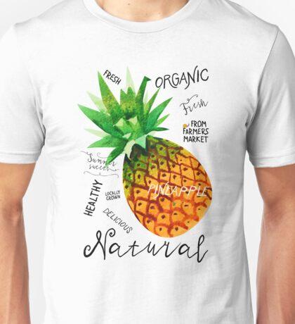 Watercolor pineapple Unisex T-Shirt