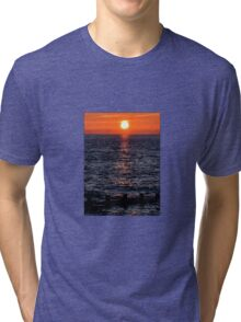 Oriental Sunset Tri-blend T-Shirt