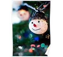 Snowman Christmas Light Poster