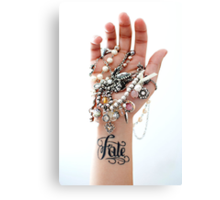 Fate Tattoo & Jewelry Canvas Print