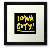 Grungy Iowa City Framed Print