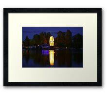Light Wheel Framed Print
