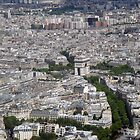 Arc de Triomphe (Triumphal Arch) - Taken from the Eiffel Tower, Paris by CalumCJL