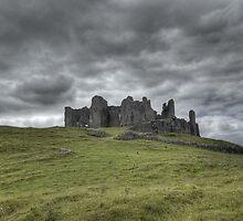 carreg cennen castle by welshknight