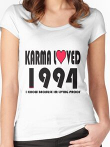 karma loved 1994 Women's Fitted Scoop T-Shirt