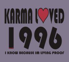 karma loved 1996 Kids Tee