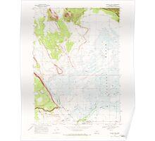 USGS Topo Map Oregon Silver Lake 281510 1968 24000 Poster