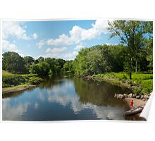 Along the Concord River Poster