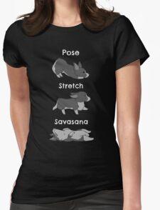 Yoga Corgi Womens Fitted T-Shirt