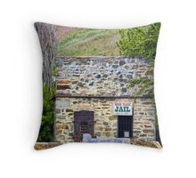 Horse Plains Jail Throw Pillow