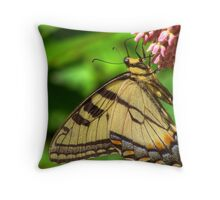 Wings on Petals Throw Pillow