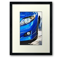 Stylish Blue Framed Print