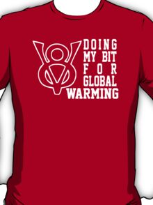 V8 Global Warming Funny T-Shirt