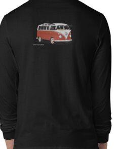 VW Bus T2 Samba Red White Long Sleeve T-Shirt