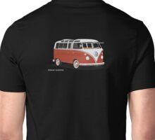 VW Bus T2 Samba Red White Unisex T-Shirt