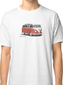 VW Bus T2 Samba Red Blk Classic T-Shirt
