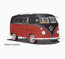 VW Bus T2 Samba Red Blk Blk by Frank Schuster