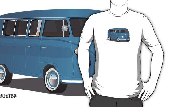 VW Bus T2 Transporter Blue Blk by Frank Schuster