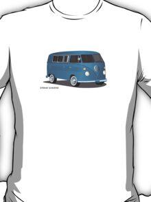 VW Bus T2 Transporter Blue Blk T-Shirt