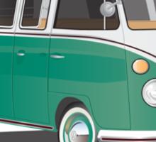 VW Bus T2 Samba Green Wht Sticker