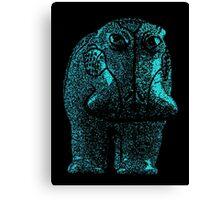 Blue Hippo Canvas Print
