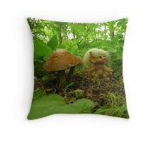TROLL IN THE WOODS Throw Pillow