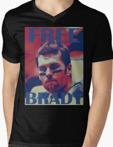 FREE BRADY Mens V-Neck T-Shirt