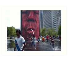 The Crown Fountain @ Millennium Park Chicago Art Print