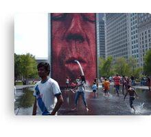 The Crown Fountain @ Millennium Park Chicago Canvas Print