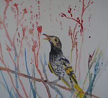 Eastern Honeyeater - Endangered Australian Bird by Kay Cunningham