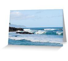 Hawaiin Waves Greeting Card
