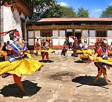 Tashiling Festival #3, Eastern Himalaya, Central Bhutan  by Carole-Anne