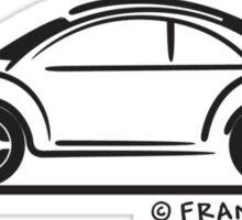 New VW Beetle Bug Blk Sticker