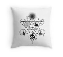 Sacred Crops -Black Throw Pillow