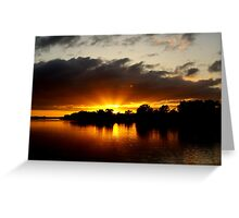 Sunrise at Mannum Greeting Card