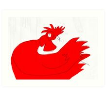 little red rooster Art Print