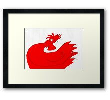 little red rooster Framed Print