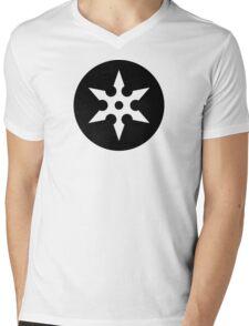Ninja Shuriken Ideology Mens V-Neck T-Shirt