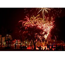Fireworks and Spectators Photographic Print