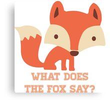 CARTOON FOX Canvas Print